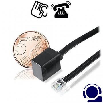 Micro Telefonsender, Ansteckversion als Telefon-Abhörgerät. Kleinster Ansteck-Telefonsender der Welt wird einfach in die Telefon-Anschlussdose eingesteckt. Für alle analogen Telefonanschlüsse geeignet. Diese Telefon-Wanze arbeitet nur während der Telefonate.