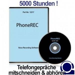 PC-basierter Telefon -Spionagerecorder als automat. Telefon-Abhörgerät für unbegrenzte Aufzeichnung der Telefonate auf dem PC. Blitzschnell installiert und kinderleicht zu bedienen. Speichert automatisch alle Telefongespräche bis mehr als 5000 Stunden.