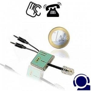 Professioneller ISDN Tonband-Adapter als Telefon-Abhörgerät für simultane Aufzeichnung beider ISDN-Kanäle, egal welche MSN genutzt wird. Steckbar an der ISDN-Anschlussdose wie ein ISDN-Telefonapparat.