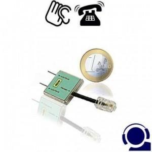 Professioneller ISDN-Telefonsender als drahtloses Telefon-Abhörgerät für simultane Überwachung beider ISDN-Kanäle, egal welche MSN genutzt wird. Ansteckbar an der Telefondose mit RJ 45-Stecker wie ein ISDN-Telefon.