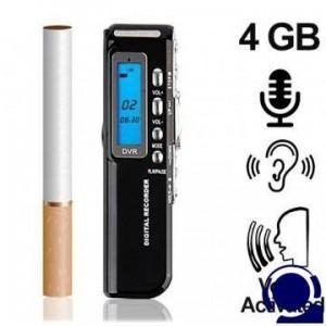 Digitaler Telefon-Recorder (Telefon-Abhörgerät) 4 GB, bis 600 Stunden. Voice activated, Schaltet bei Telefonaten automatisch ein und bei Beendigung wieder ab. Abmessung im Zigarettenformat.
