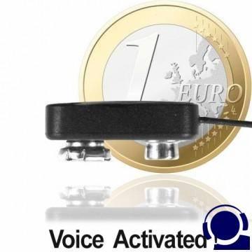 Funk-Abhörgerät (Micro-Clip-Sender, nur Fingernagelgross) mit grosser Ausgangsleistung (30 Milliwatt) für Reichweiten bis zu 3000 mtr.