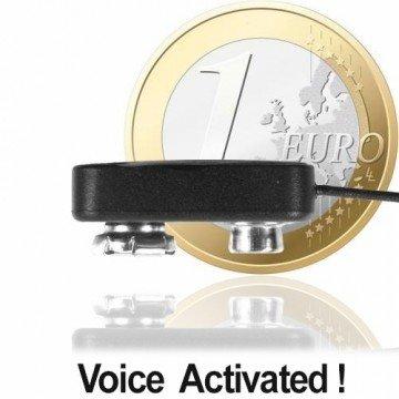 Funk-Abhörgerät (Micro-Clip-Sender, nur Fingernagelgross) mit hoher Sendeleistung (30 Milliwatt) für Reichweiten bis zu 3000 mtr.