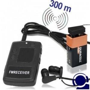 Kostengünstiges Funk Abhörgeräte Set, Sender & Empfänger, für Reichweiten bis zu 300 mtr. bei günstigen Bedingungen.