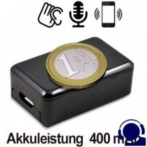 Das kleinste GSM Fern-Abhörgerät weltweit, Voice-Activated. Globale Audioüberwachung via Handy-Netz, weltweit !