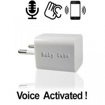 """Mini GSM Fern-Abhörgerät, """"Cube"""" 220-Volt gespeist. Globale Raumüberwachung via Handy-Netz, weltweit ! Im CUBE-Steckergehäuse (EU-Plug) mit 220-V Power. Weltweit einsetzbar für reine akustische Raumüberwachung."""