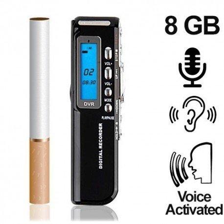 Digital-Voice-Recorder als Abhörgerät bis 1200 Stunden Aufnahme möglich. Voice-Activated für lückenlose automatische Aufnahmen. 8 GB- bis 1200 Std. Aufnahme im Longplay-Mode. Keine Mechanik, daher vollkommen verschleißfrei.