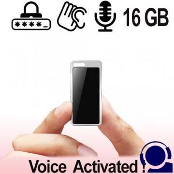 Professioneller HD Digital Audio Voice Recorder als Abhörgerät. Speicherkapazität 16 GB, Voice-Activated für lückenlose automatische Aufnahmen mit ausgezeichneter Tonqualität. Mit Passwortschutz gegen Neugierige.